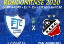 Ji-Paraná FC x Real Ariquemes pelo Rondonienese, nesta quarta (25) às 15h, assista ao vivo