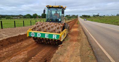 Construção da primeira ciclovia em rodovia estadual é iniciada em Rolim de Moura